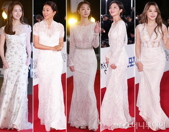 배우 한지민, 김희애, 김다미, 이솜, 성우 서유리 /사진=김휘선 기자