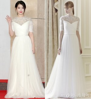 '2018 AAA' 아이유, 순백의 웨딩드레스 패션 '감탄'