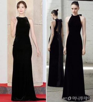 '2018 AAA' 윤아, 우아한 블랙 드레스 패션…