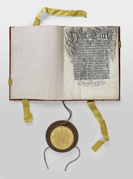 리히텐슈타인 공국의 성립을 카를 6세 황제로부터 인정받은 문서. /사진 제공=문화재청