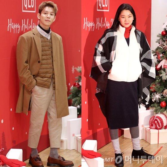 그룹 블락비 박경(왼쪽)과 모델 장윤주 /사진=김휘선 기자