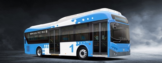 에디슨모터스가 판매 중인 전기저상버스 /사진제공=에디슨모터스