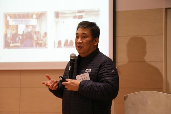 최승재 소상공인연합회 회장이 6일 송년기자간담회에서 발언하고 있다. /사진제공=소상공인연합회