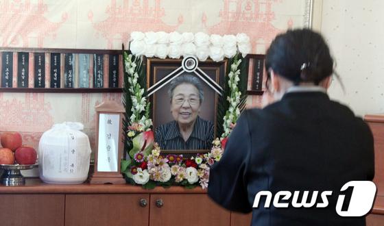 [사진]故 김순옥 할머니 발인 엄수, 日 위안부 피해 생존 할머니 26명