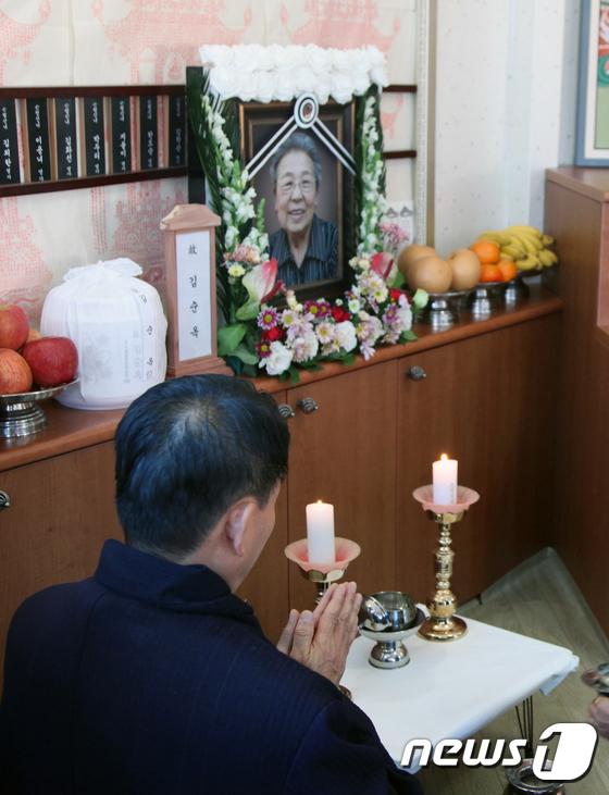 [사진]일본군 위안부 피해자 故 김순옥 할머니 발인 엄수