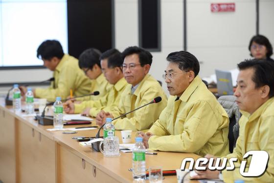 [사진]KTX 탈선사고 대책회의 주재하는 김정렬 국토부 2차관