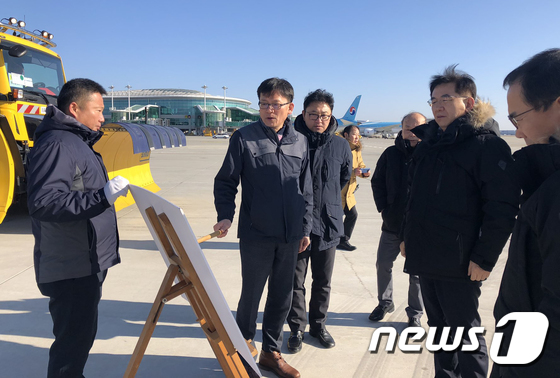 [사진]정일영 인천공항 사장, 기습한파 대비 현장 점검