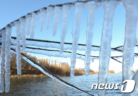 [사진]주말 얼려버린 한파