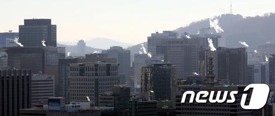 [사진]난방 가동되는 서울 도심 '북극 최강한파'