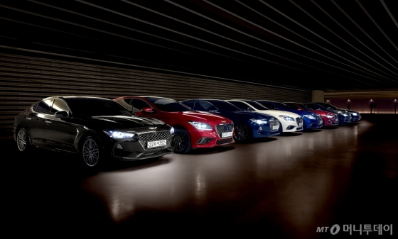 제네시스 'G70', 'G80', 'G80 스포츠'/사진제공=제네시스 브랜드