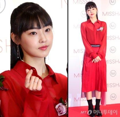 """'남자친구' 전소니, 빨간 원피스 입고…""""시크한 변신"""""""