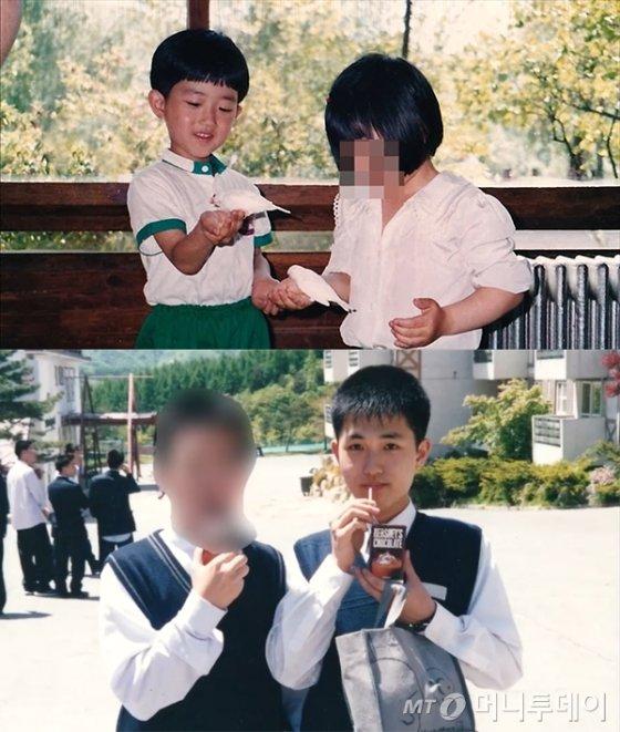 5세 시절(위쪽), 17세 시절의 파니씨(32·본명 오희나). /사진제공=파니씨