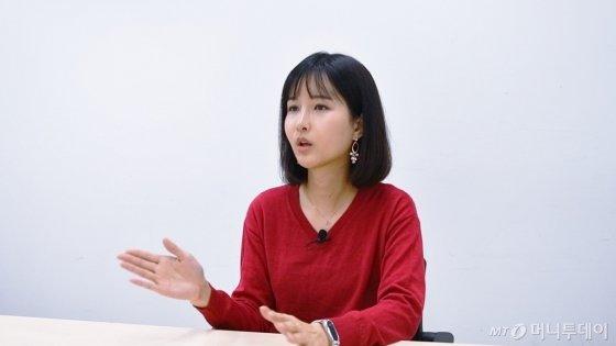 지난 18일 트랜스젠더 유튜버 파니씨(32·본명 오희나)가 머니투데이 본사를 찾았다. /사진=김소영 기자