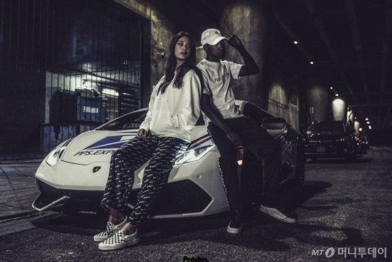 미국 스트릿 패션 브랜드 '피치스'가 2018년 스포츠카 브랜드 람보르기니와 진행했던 캠페인의 모습 /사진제공=한국타이어