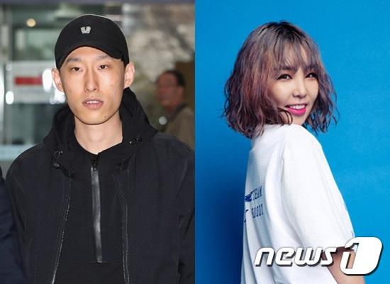 블랙넛(김대웅·30)과 키디비(김보미·29). © News1