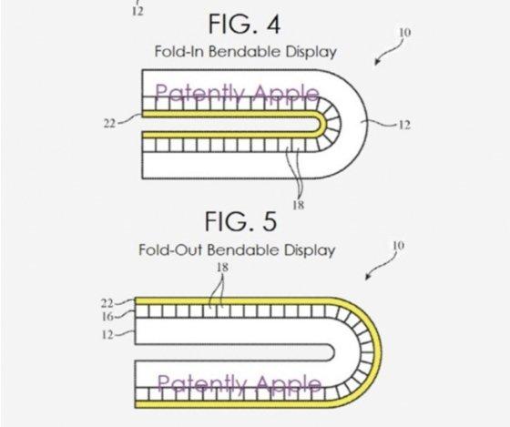 애플이 최근 취득한 인앤아웃폴딩의 특허 /사진=페이턴틀리애플