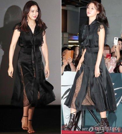 """이하늬-설현, 같은 드레스 입고…""""우아 vs 로맨틱"""""""