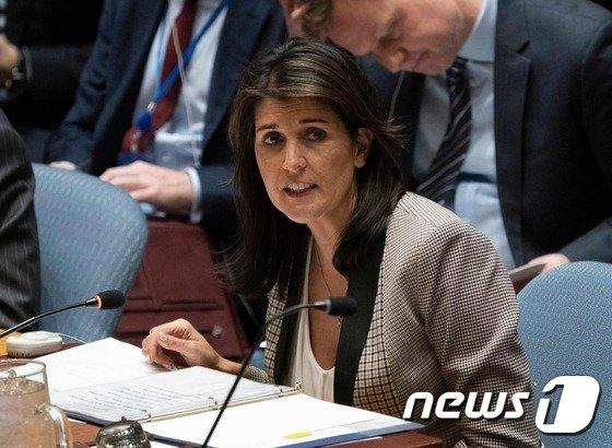 니키 헤일리 전 유엔주재 미국대사. © AFP=뉴스1