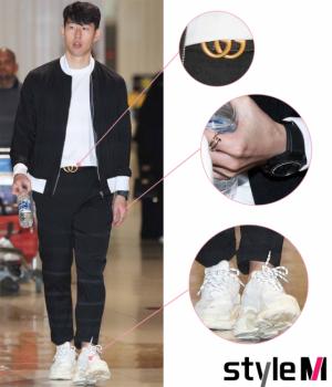 손흥민, 몸에 걸친 것 합치니 1000만원 '훌쩍'