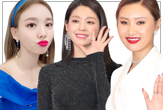그룹 트와이스 나연, AOA 설현, 마마무 화사/사진=트와이스 인스타그램, 머니투데이 DB, 뉴스1