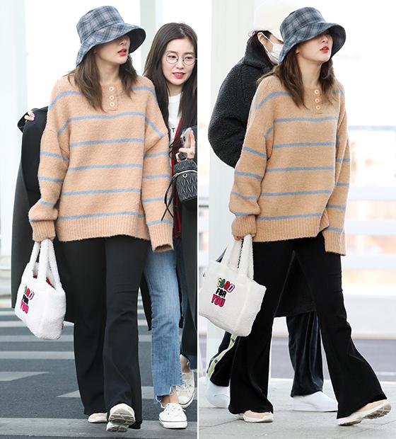 레드벨벳 슬기, 버킷햇 포인트 패션…컬러 매치 '감각적'