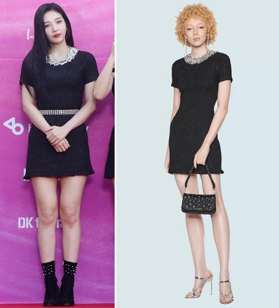 레드벨벳 조이 vs 모델, 더 화려해진 스타일…차이는?