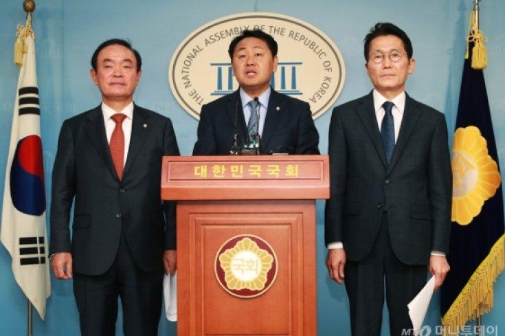 야3당 원내대표, 선거법 개정 합의처리 촉구