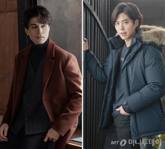 배우 이동욱, 박보검 /사진제공=웰메이드, 아이더
