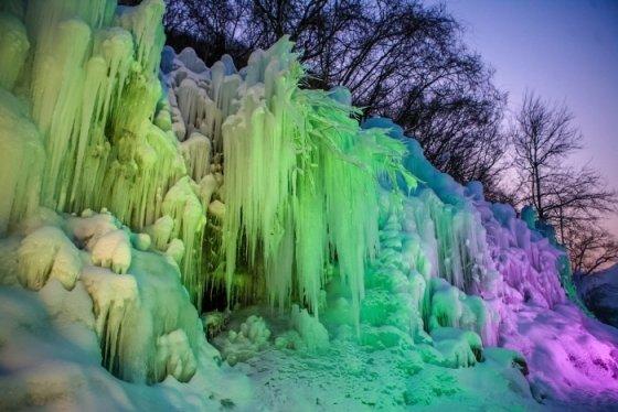 청평 얼음꽃축제 모습/사진제공=청평얼음꽃축제 홈페이지