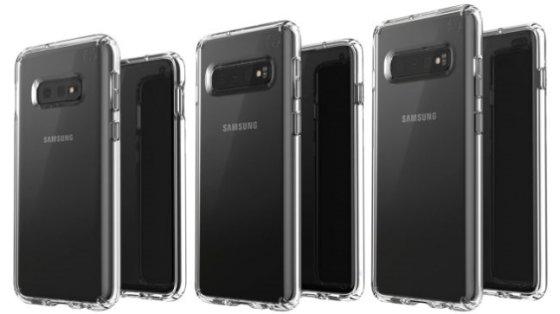 (왼쪽부터)갤럭시S10e, 갤럭시S10, 갤럭시S10 플러스. /사진=에반 블레스 트위터