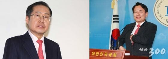 (왼쪽)홍준표 전 자유한국당 대표, 김진태 자유한국당 의원. /사진=머니투데이