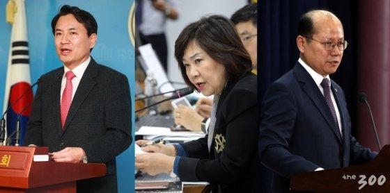 (왼쪽부터) 김진태·김순례·이종명 자유한국당 의원 /사진=이동훈 기자·뉴스1