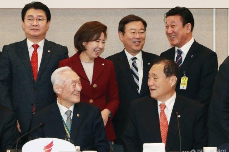 보훈단체장 초청한 자유한국당