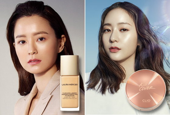 배우 정유미, 가수 겸 배우 크리스탈/사진제공=로라 메르시에, 클리오