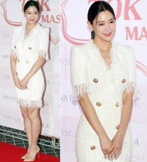 '새 신부' 클라라, 우아한 트위드 패션…피부결 '깜짝'