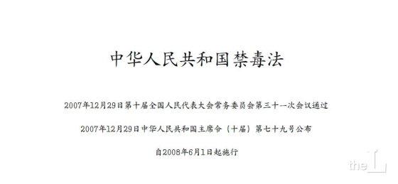 중국 마약금지법