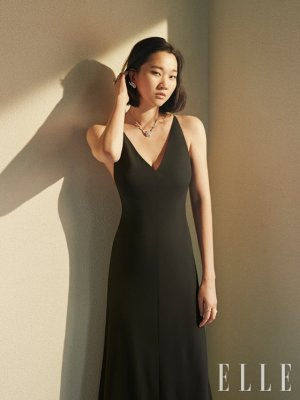 장윤주, 블랙 원피스 패션…