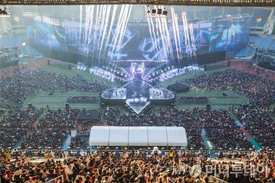 '2018 롤드컵' 결승전이 열린 인천 문학 주경기장 전경. /사진제공=라이엇게임즈.