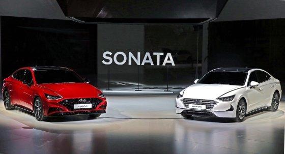 신형 쏘나타 터보 및 하이브리드 차량/사진제공= 현대차
