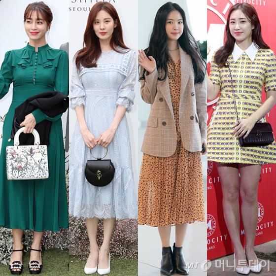 배우 이민정, 소녀시대 서현, 에이핑크 손나은, 방송인 최희/사진=머니투데이 DB
