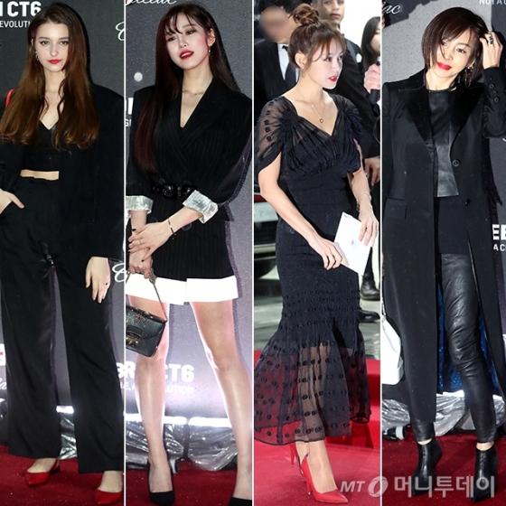 안젤리나 다닐로바, 전효성, 안현모, 황신혜 /사진=홍봉진 기자