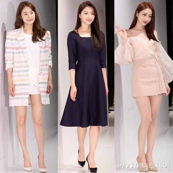 (왼쪽부터) 배우 한지혜, 장희진, 가수 경리 /사진=김휘선 기자