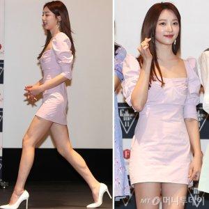 표예진, 핑크색 원피스 입고…봄 분위기 '폴폴'
