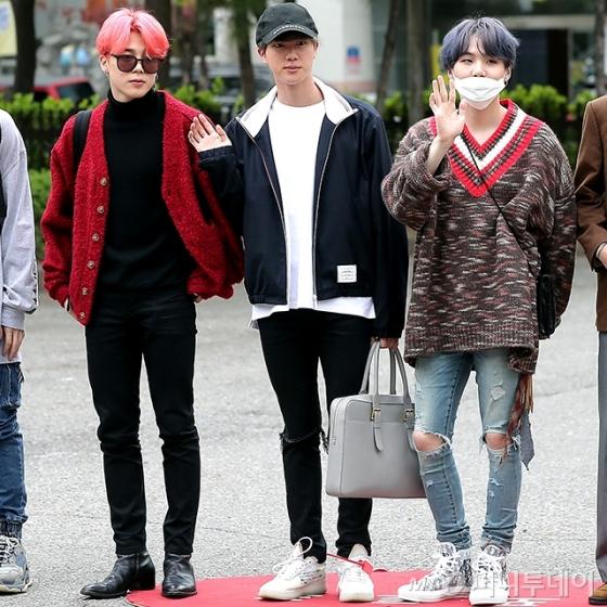 그룹 방탄소년단 지민, 진, 슈가 /사진=김창현 기자