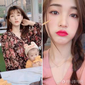 '짱이 엄마' 율희, 원피스·니트 룩…사복 패션 '청순'