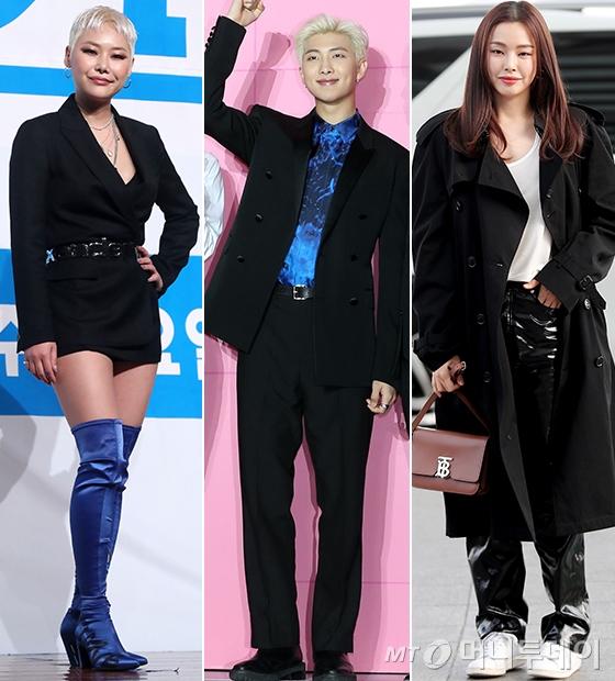 가수 치타, 그룹 방탄소년단 RM, 배우 이하늬/사진=홍봉진 기자, 머니투데이 DB