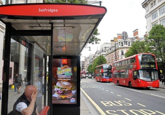 런던 옥스포드가의 위치한 버스 정류장. /사진=로이터.