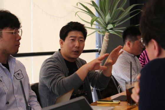 """김상훈 뿅카 대표는 15일 기자간담회를 열고 """"모빌리티 광고 플랫폼'뿅카고'는 이용자와 기업이 모두 만족할 수 있는 차량공유 서비스를 제공할 것""""이라고 말했다."""