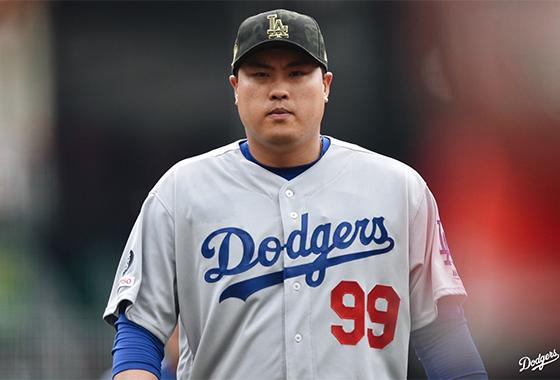 야구 선수 류현진/사진=LA 다저스 공식 트위터 캡처