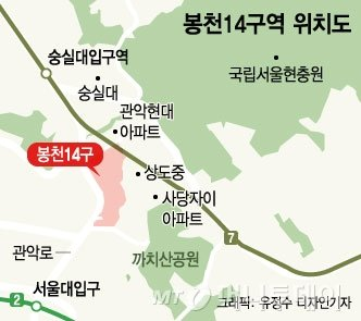 봉천14구역, 재개발 직권해제서 '기사회생'